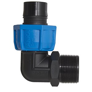 1/4-in Dia. 90-Degree Plastic Coil Male Elbow Fitting
