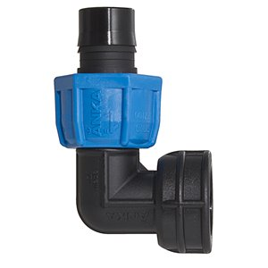 1-in Dia. 90-Degree Plastic Coil Female Elbow Fitting