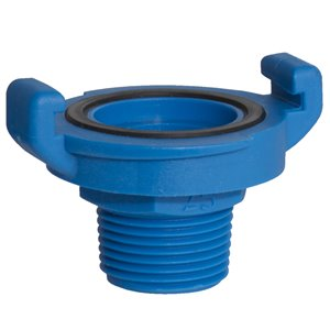 1-in Dia. Plastic Coil Quick Lock Male Coupling Fitting