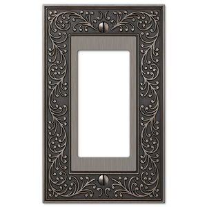 Amerelle Vine 1-Gang Decorator Rocker Wall Plate (Antique Nickel)