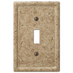 Amerelle Texture Stone 1-Gang Toggle Wall Plate (Noce)