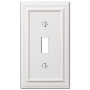Amerelle Continental 1-Gang Toggle Wall Plate (White)