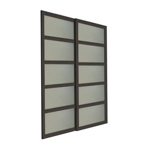 72 In X 80 In 2 Panel Frosted Glass Sliding Closet Door