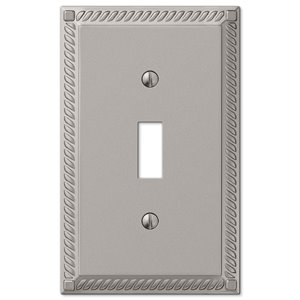 Amerelle Georgian 1-Gang Toggle Wall Plate (Satin Nickel)