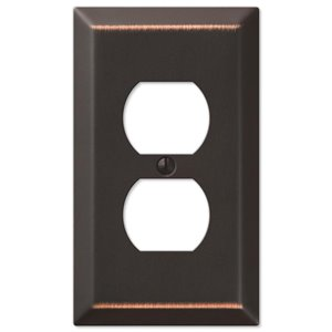 Amerelle Century 1-Gang Duplex Receptacle Wall Plate (Aged Bronze)