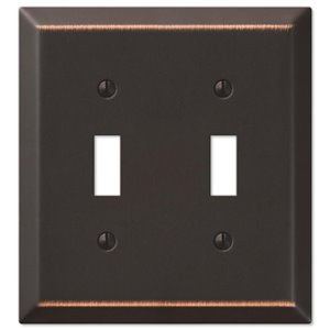 Amerelle Century 2-Gang Toggle Wall Plate (Aged Bronze)
