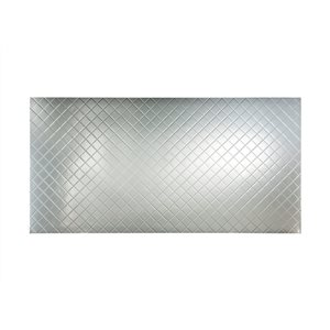 Fasade 48-in x 8-ft Embossed Brushed Aluminum Wall Panel