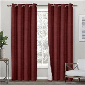 Design Decor 84-in Chili Polyester Grommet Room Darkening Single Curtain Panel