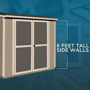 Heartland 8-ft x 4-ft Scottsdale Lean-to Wood Storage Shed