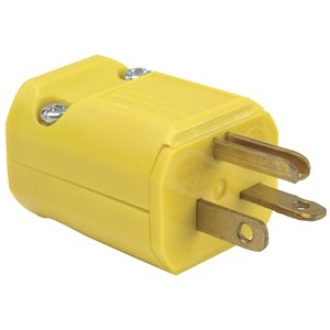 Legrand 20-Amp 250-Volt Yellow 3-wire Grounding Plug