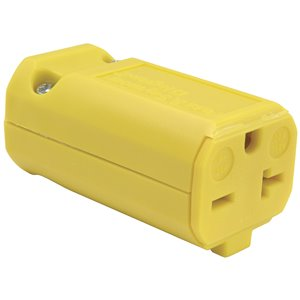 Legrand 20-Amp 250-Volt Yellow 3-wire Grounding Connector