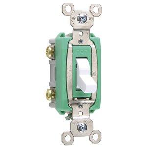 Legrand 30-Amp Double Pole White Toggle Light Switch