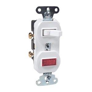 Legrand 15-Amp Single Pole White Indoor Framed Toggle Light Switch