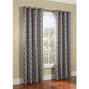 Legacy 84-in Steel Polyester Grommet Light Filtering Single Curtain Panel