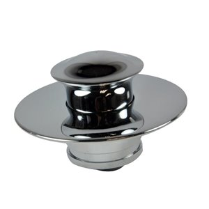 3-in Dia. Chrome Metal Drain Cover/ Stopper