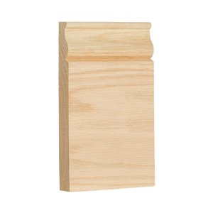 3.5-in x 6-in Interior Oak Wood Baseboard Moulding Block