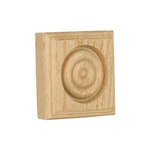 2.5-in x 2.5-in Interior Oak Wood Baseboard Moulding Block