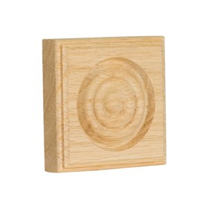 3-in x 3-in Interior Oak Wood Baseboard Moulding Block