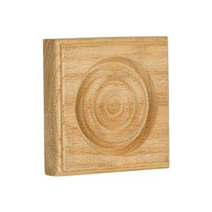 3.5-in x 3.5-in Interior Oak Wood Baseboard Moulding Block