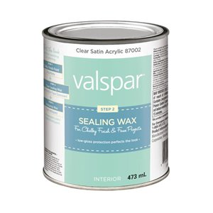 Valspar 473ml Clear Satin Sealing Wax - Step 2