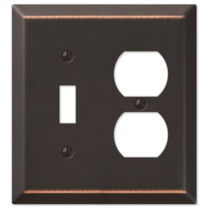 Amerelle Century 1-Gang Toggle/Duplex Combination Wall Plate (Aged Bronze)