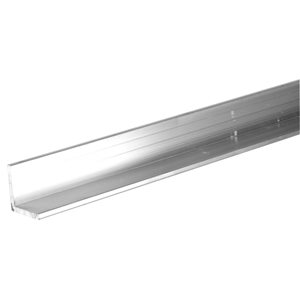 Hillman 3/4-in W x 3/4-in H x 8-ft L Mill Finished Aluminum Solid Angle