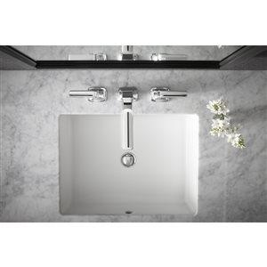 KOHLER Verticyl White Undermount Rectangular Bathroom Sink Overflow