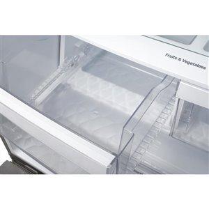 LG 23.9-cu ft 3-Door French Door Refrigerators (Stainless) ENERGY STAR