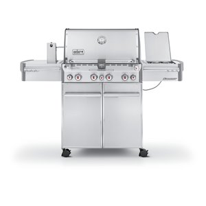 Weber Summit S-470 4-Burner Stainless Steel Natural Gas Grill with Side Burner