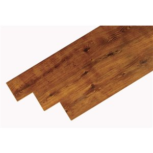 Euro Collection Texture Swamp Oak 7.63-in W Embossed Wood Plank Laminate Flooring