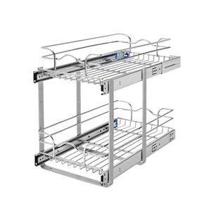 Rev-A-Shelf 11.75-in W x 22-in D x 19-in H 2-Tier Metal Pull Out Basket