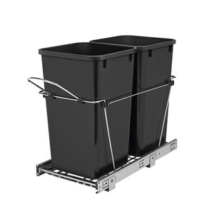 rev-a-shelf 27-quart plastic pull out trash can | lowe's