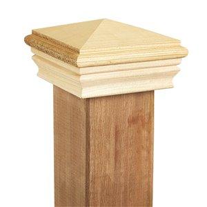 Deckorators 4-in x 4-in Cedar Wood Cedar Deck Post Cap
