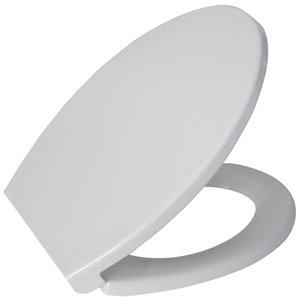 Jacuzzi White Plastic Elongated Slow Close  Elongated Toilet Seat