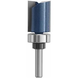 Bosch 3/4-in x 1-in Carbide-Tipped 2-Flute Top Bearing Straight Trim Bit