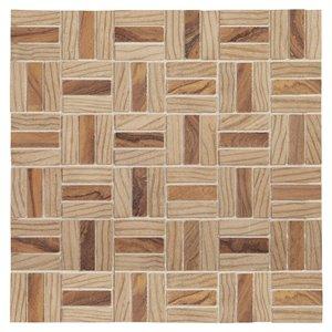 American Olean Loren Place 12-in x 12-in Wood Blend Ceramic Random Mosaic Wall Tile