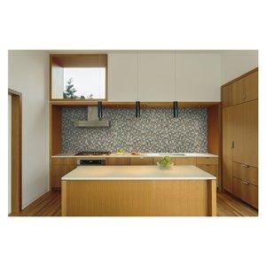 American Olean Loren Place 12-in x 13-in Utopia Blend Glass and Metal Random Mosaic Wall Tile