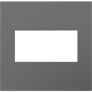 Legrand adorne 2-Gang Square Wall Plate (Magnesium)