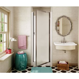 MAAX 30-in x 32-in Fiberglass Wall and Floor 2-Piece Alcove Shower Kit