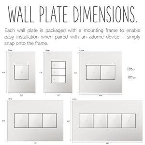 Legrand adorne 1-Gang Square Wall Plate (Magnesium)