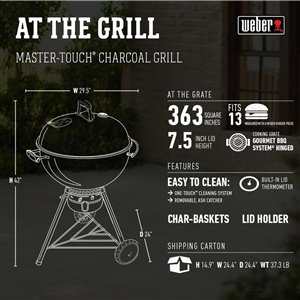Weber 22-in Black Charcoal Kettle Grill