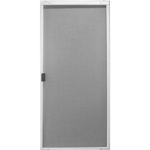Screen Tight Patio Matic White Aluminum Screen Door