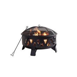 29.92-in Antique Black Steel Wood-Burning Fire Pit