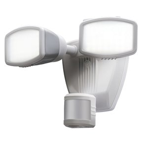 240-Degree 2-Head Dual Detection Zone White LED Motion-Activated Flood Light