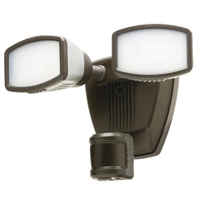 Heath Zenith 240-Degree 2-Head Dual Detection Zone White LED Motion-Activated Flood Light