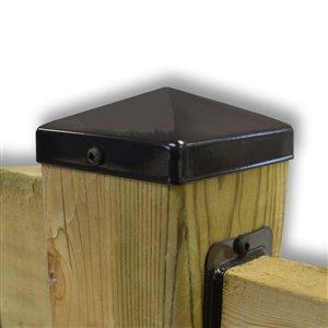 Pylex 4-in x 4-in Black Deck Post Cap