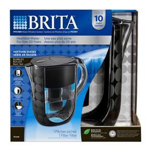 Brita Bubbles Pitcher Water Filtration System (Black)