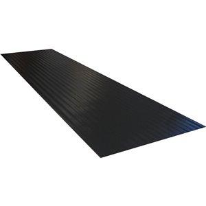 8.75-in x 24-in Black Rectangular Stair Tread Mat