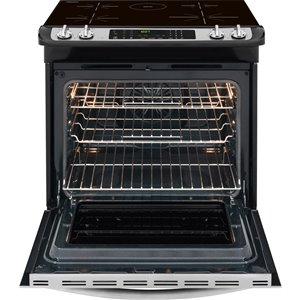 Frigidaire 30-in 4.6 cu ft Slide In Induction Range with Self-cleaning Convection Oven  (Stainless Steel)