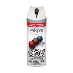 Valspar 340g Premium White Spray Paint